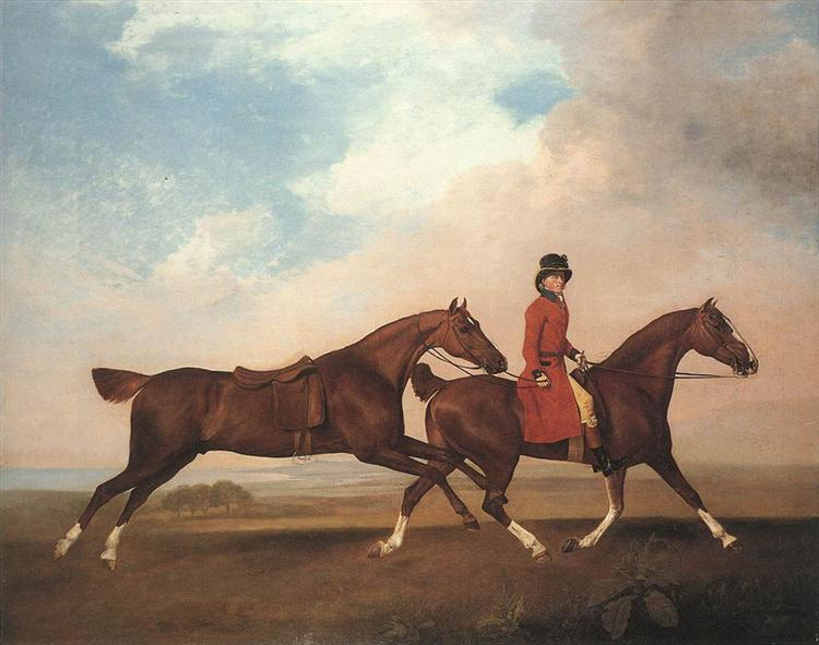 William Anderson with two saddle-horses, 1793 - George Stubbs