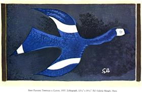 A Bird Passing through a Cloud - Georges Braque