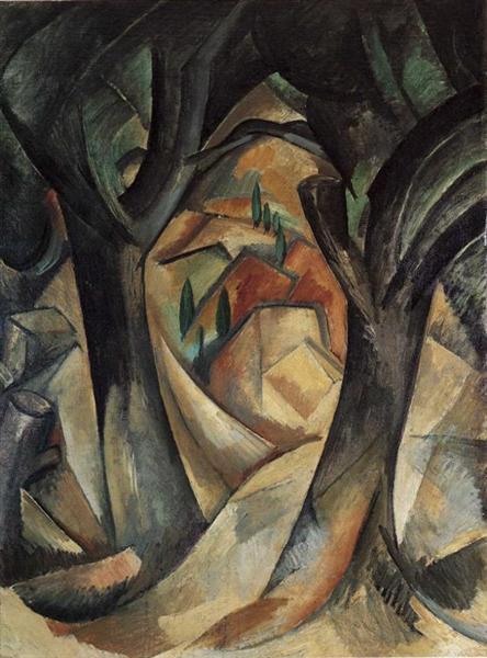 Big trees at Estaque, 1908 - Georges Braque