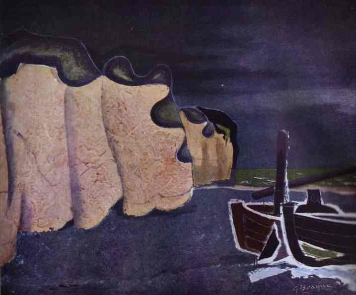 Zorz Brak ( Georges Braque ) - Page 3 Boats-on-the-seashore-1929