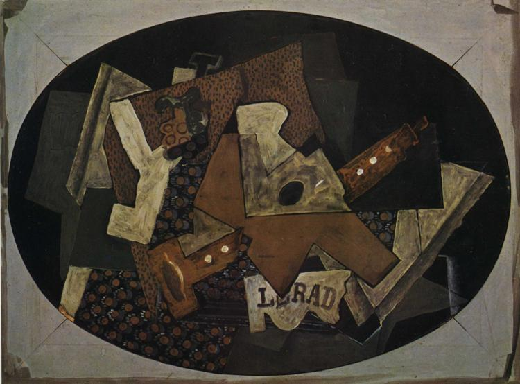 Clarinet, Guitar and Compotier, 1918 - Georges Braque