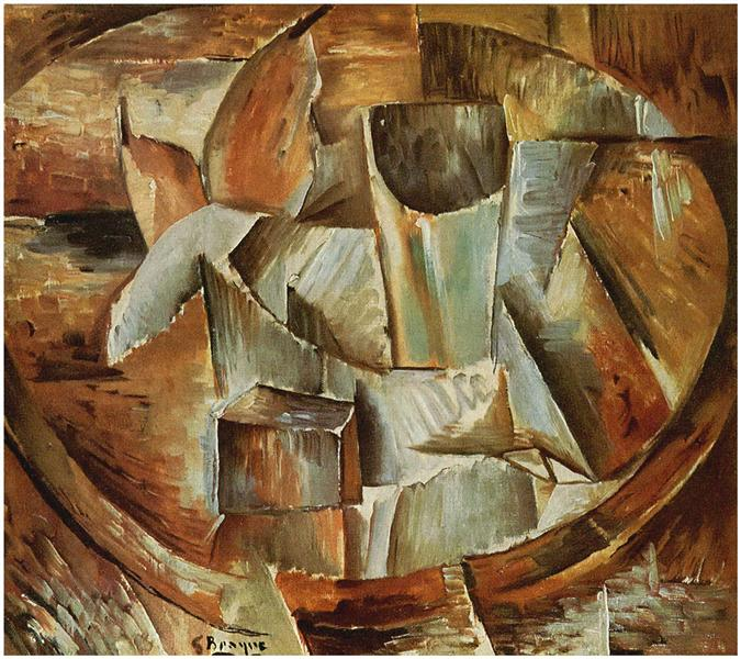 Glass on a Table, c.1909 - Georges Braque