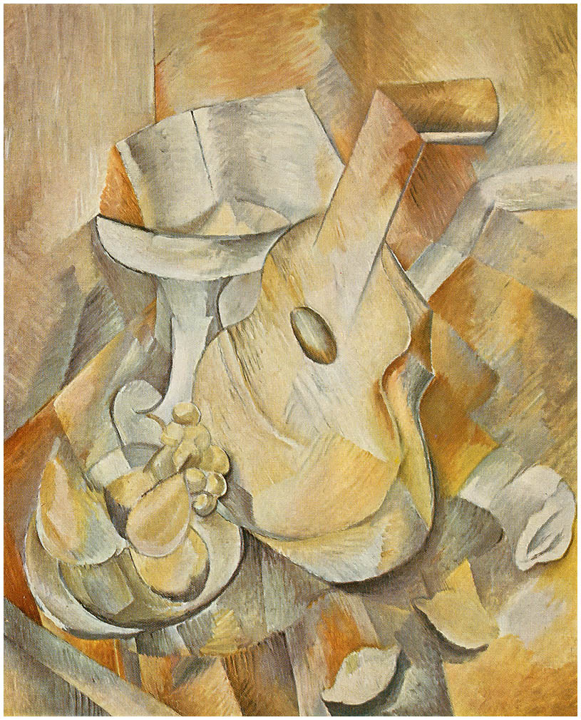 Zorz Brak ( Georges Braque ) - Page 4 Guitar-and-fruit-dish-1909