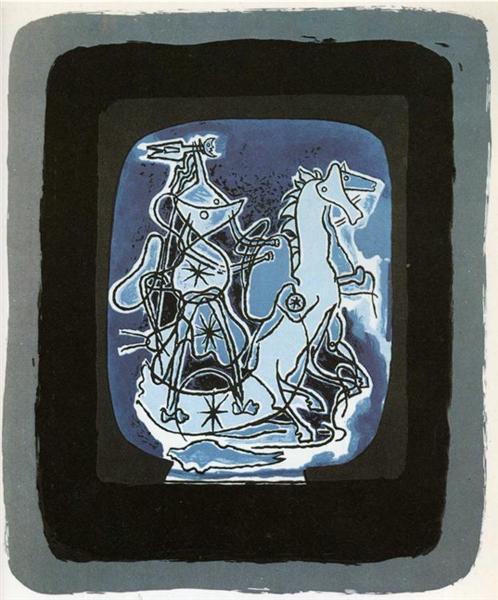 Helios V, Blue-Violet, 1948 - Georges Braque