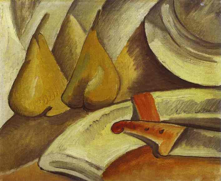 Napkin, knife and pears, 1908 - Georges Braque