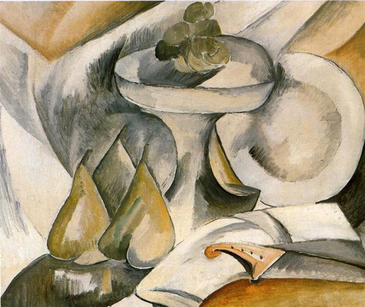 Plate and Fruit Dish, 1908 - Georges Braque
