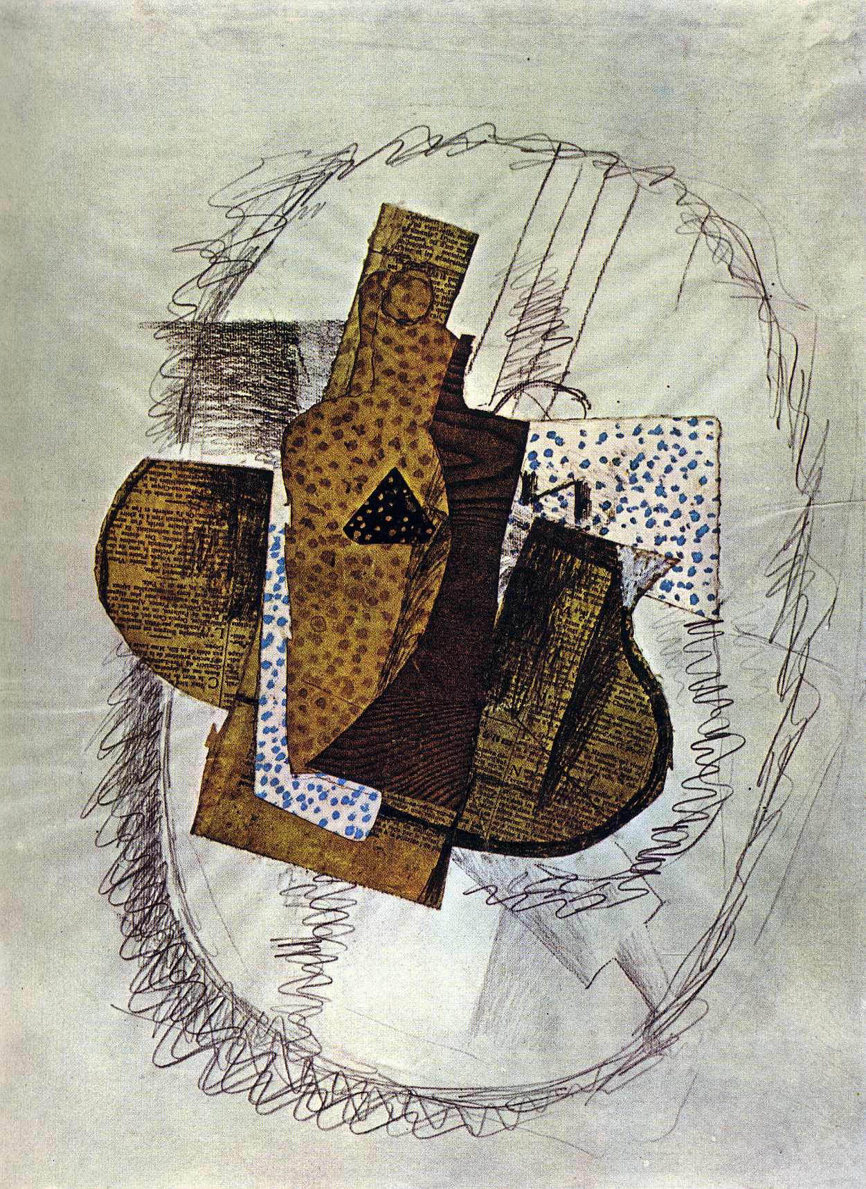 Zorz Brak ( Georges Braque ) - Page 5 Still-life-with-bottle-of-bass-1914