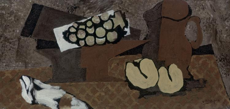 Still life with brown jug, c.1918 - Georges Braque