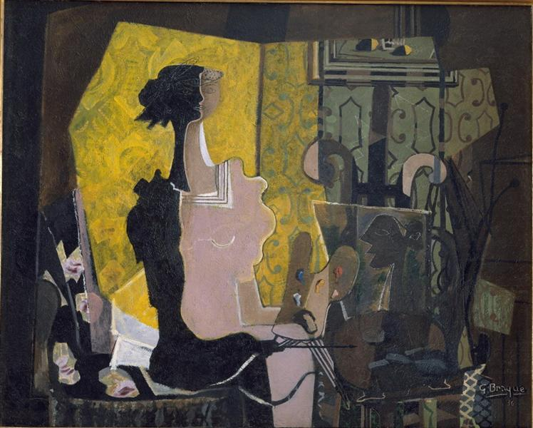Woman with the easel - Georges Braque