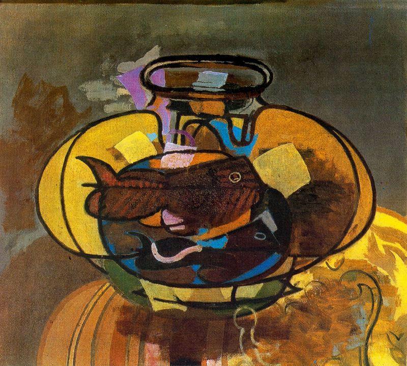 Zorz Brak ( Georges Braque ) - Page 4 The-aquarium-1951