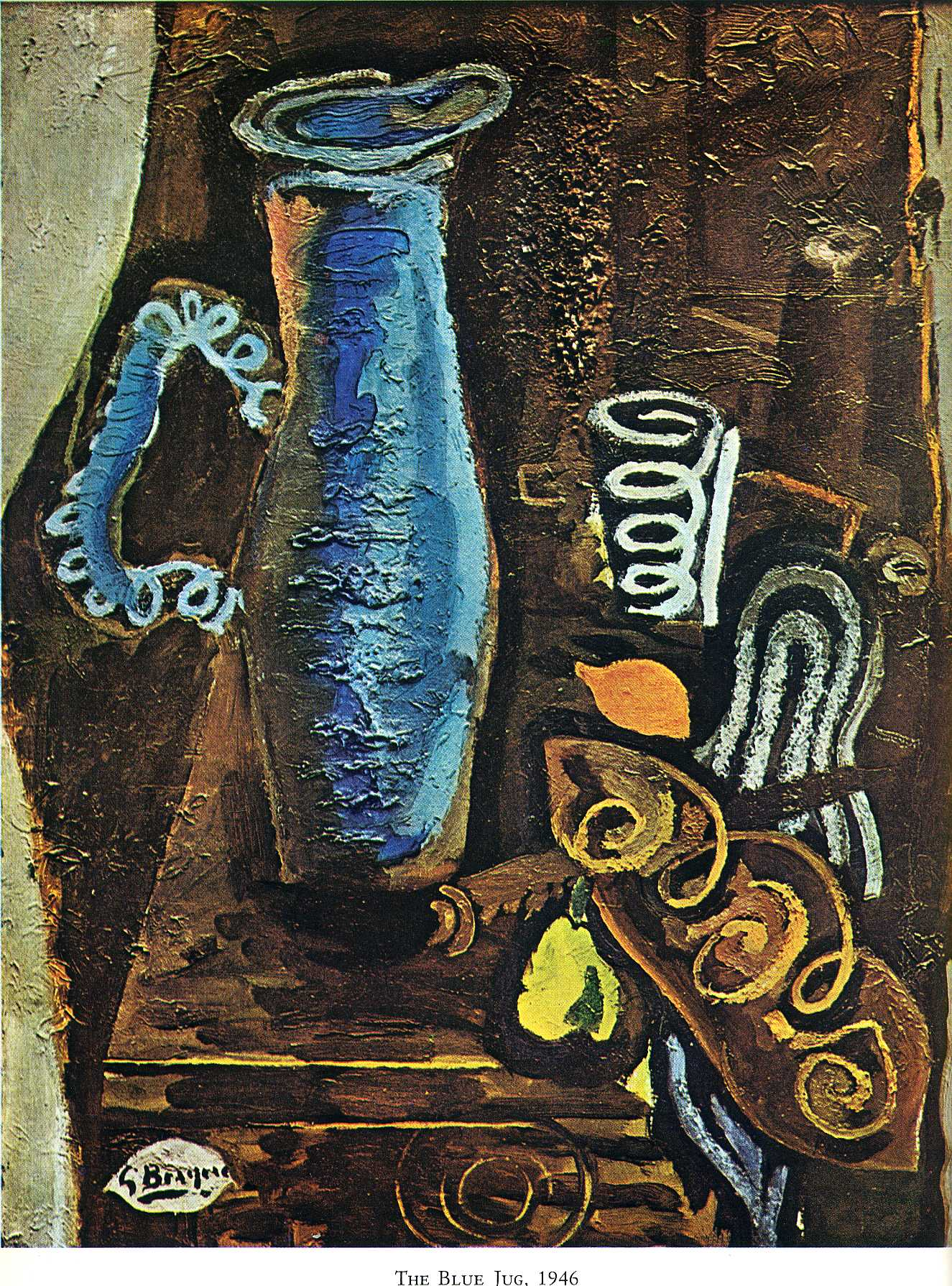 Zorz Brak ( Georges Braque ) - Page 3 The-blue-jug-1946