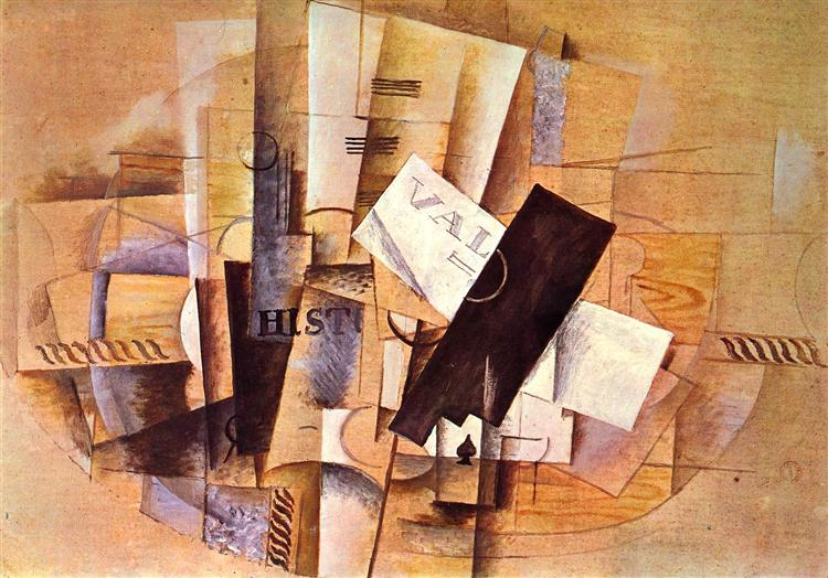 The musician's table, 1913 - Georges Braque