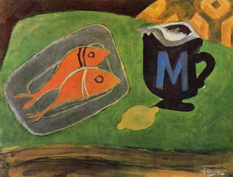 Two mullets, 1941 - Georges Braque