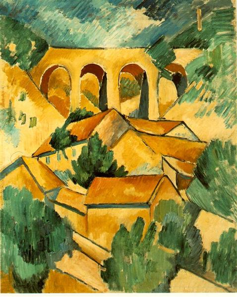 Viaduct at L'Estaque, 1908 - Georges Braque