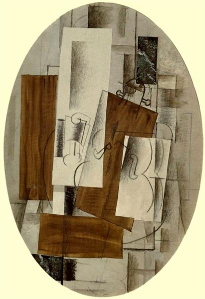 Violin and Glass, c.1912 - Georges Braque