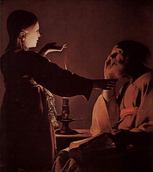 Appearance of Angel to St. Joseph, also calledThe Song of St. Joseph, c.1640 - Georges de la Tour
