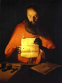 St. Jerome Reading - Georges de la Tour