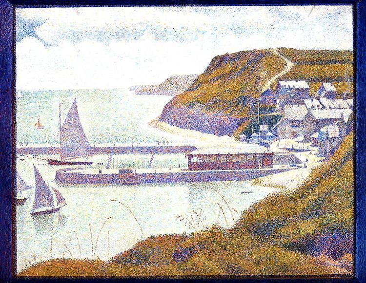 Harbour at Port-en-Bessin at High Tide, 1888 - Georges Seurat