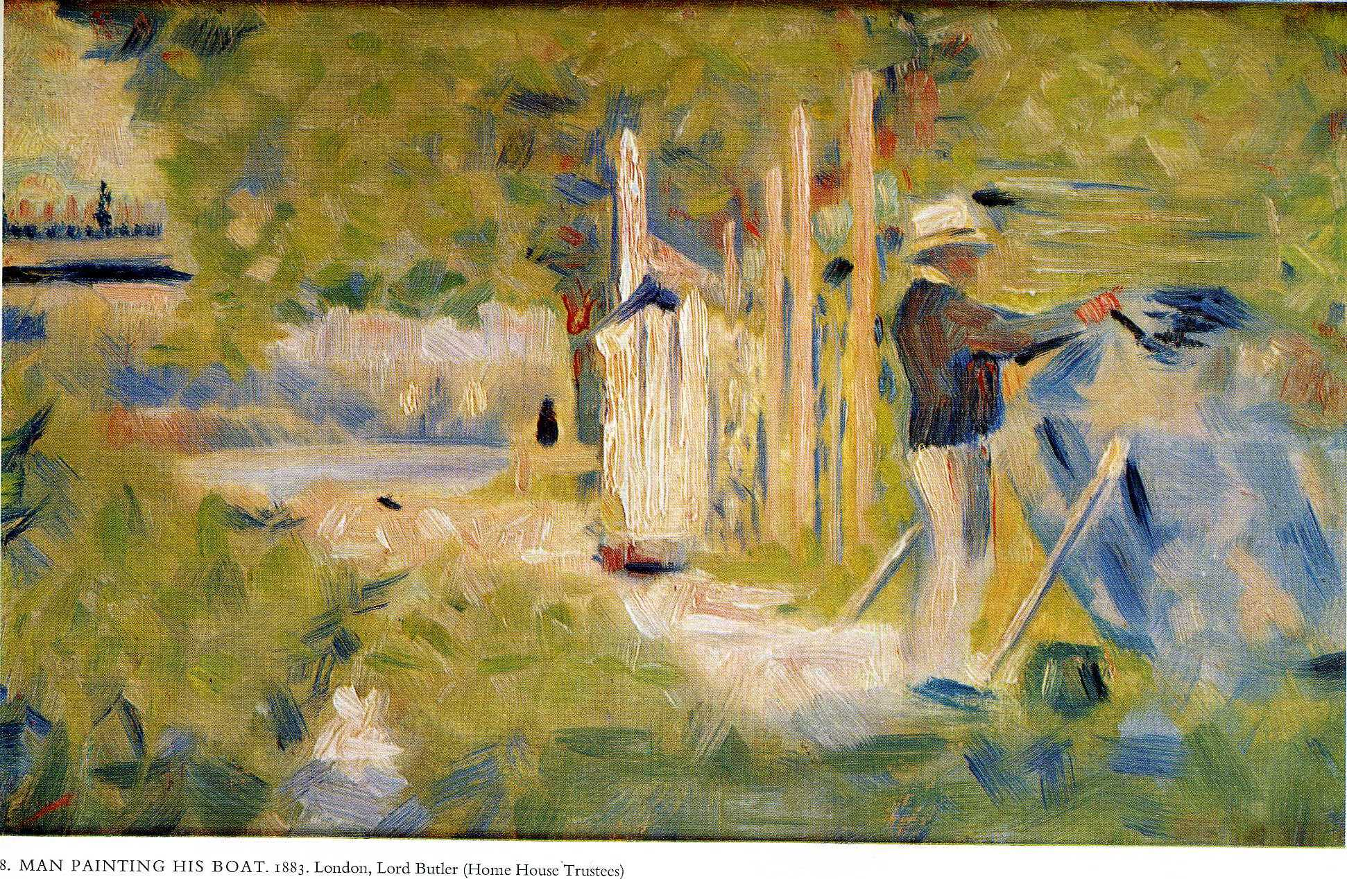 Man Painting his Boat, 1883 - Georges Seurat - WikiArt.org