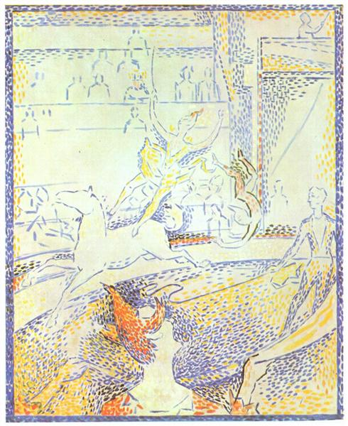 Study for 'The Circus', 1890 - 1891 - Georges Pierre Seurat