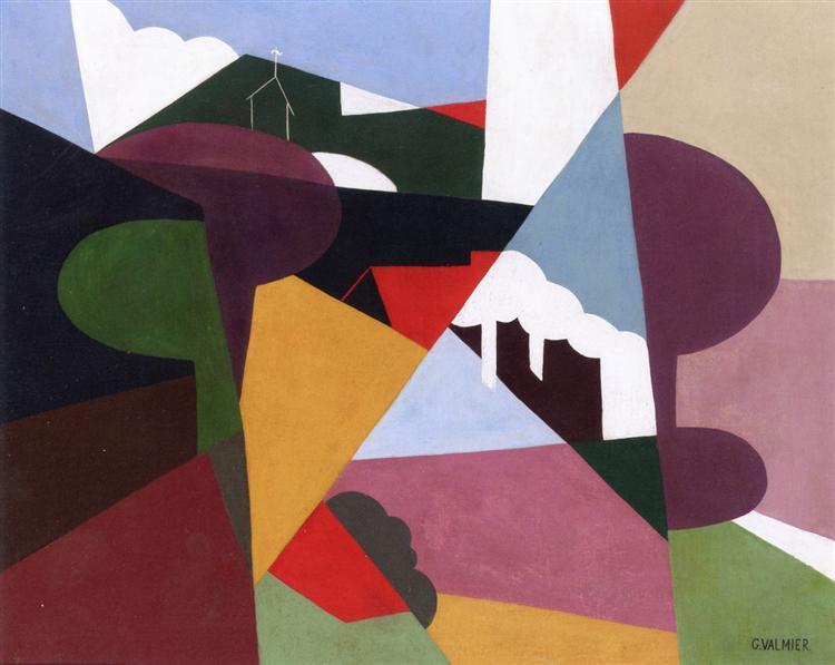 Landscape, La Ciotat, 1922 - Georges Valmier