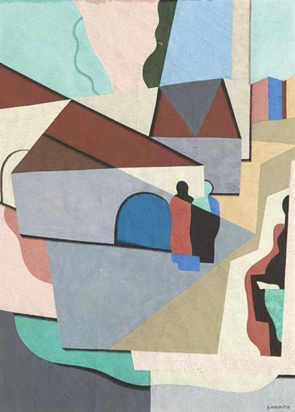 Le village, 1924 - Georges Valmier