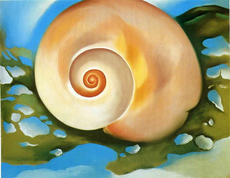 Pink Shell with Seaweed, 1937 - Georgia O'Keeffe