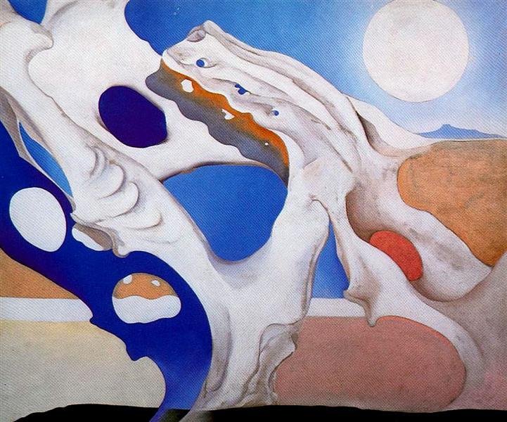 Shadow with Pelvis and Moon, 1943 - Georgia O'Keeffe
