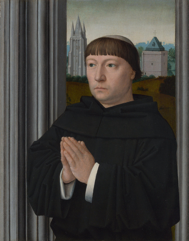 An Augustinian Friar Praying - Gerard David - WikiArt.org ...