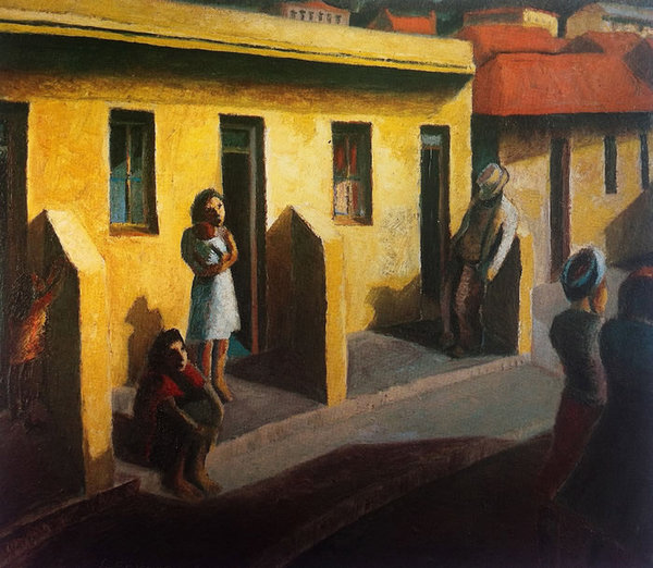 Yellow Houses: District Six, 1942 - Gerard Sekoto