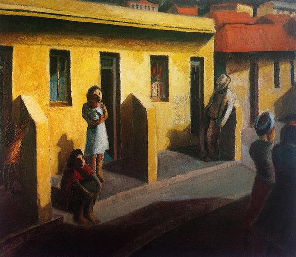 Κίτρινα σπίτια: Περιοχή Έξι, 1942 - Gerard Sekoto