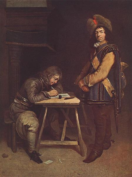 Officer Writing a Letter - Герард Терборх
