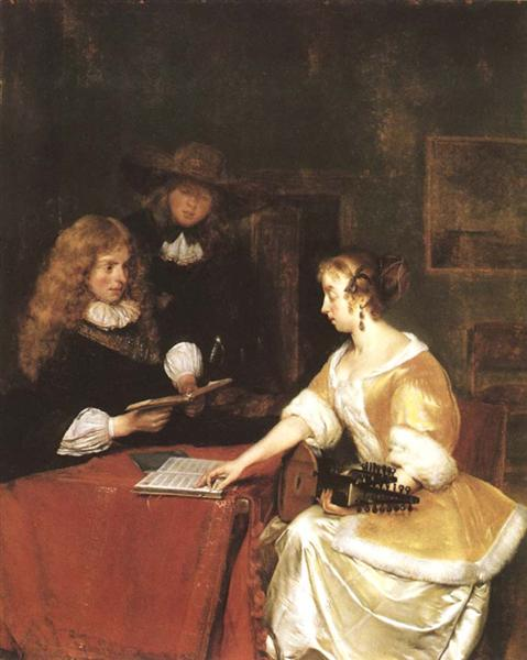 The Music Party, c.1670 - Gerard ter Borch