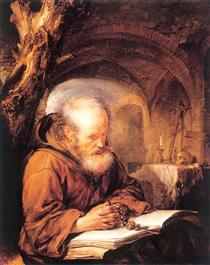 A Hermit Praying - Gerard Dou