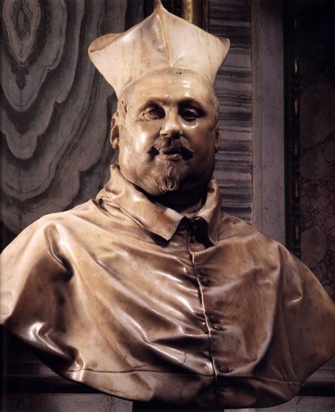 Bust of Cardinal Scipione Borghese, 1630 - Лоренцо Берніні