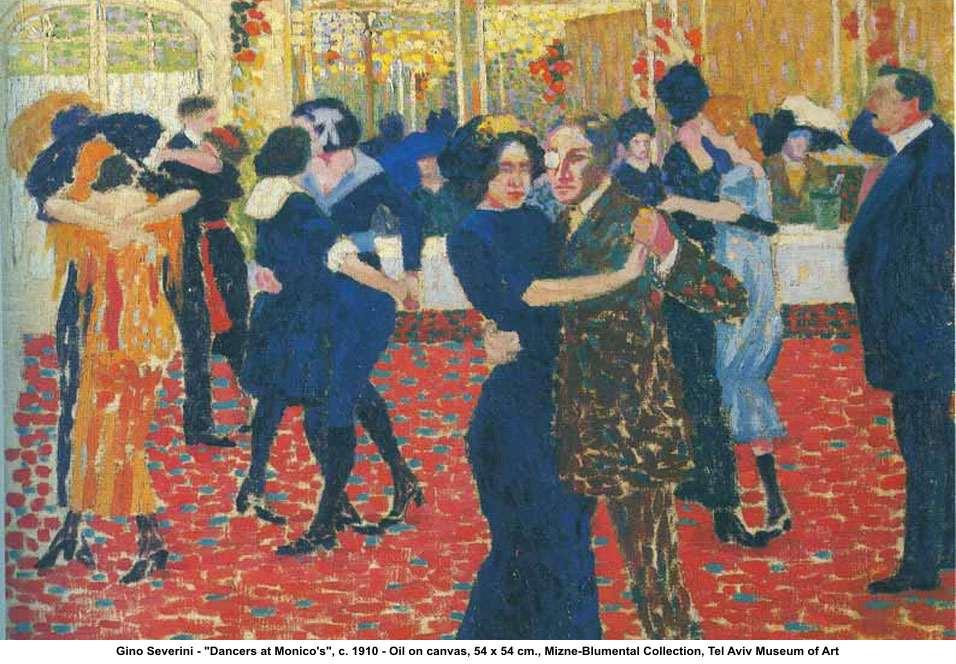 dancers at monicos c1910 gino severini wikiartorg