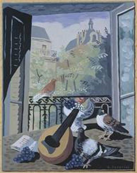 Window with Doves, c.1931 - Gino Severini