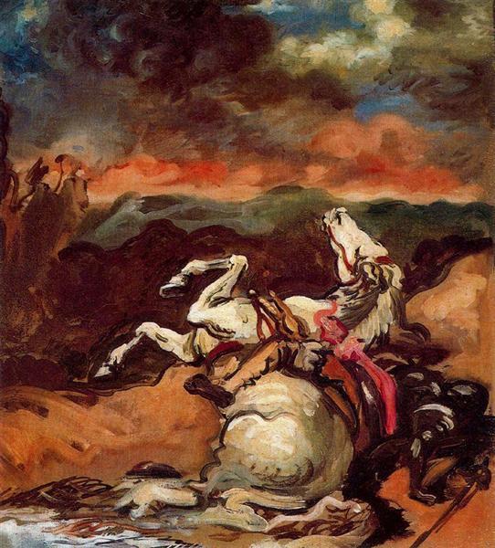 Fallen horse - Giorgio De Chirico