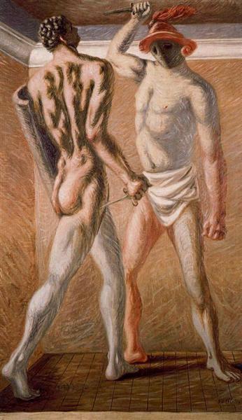 Gladiators, 1928 - Giorgio de Chirico