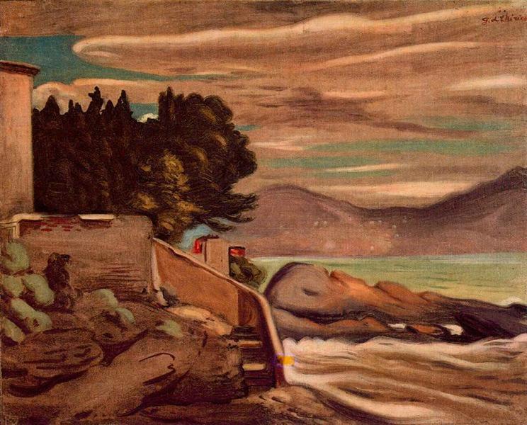 Landscape near  Genova, 1933 - Giorgio de Chirico