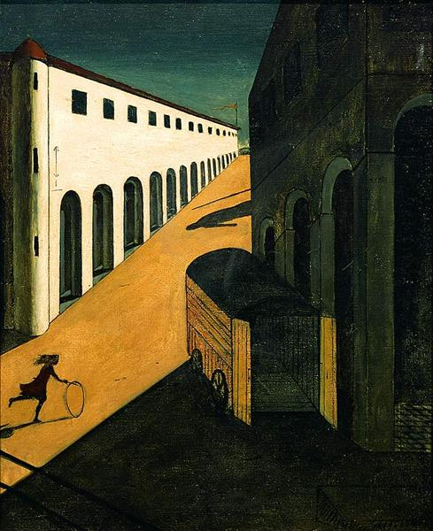 Mystery and Melancholy of a Street, 1914 - Джорджо де Кіріко