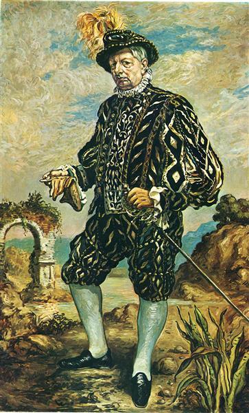Self portrait in black costume, 1948 - Giorgio de Chirico