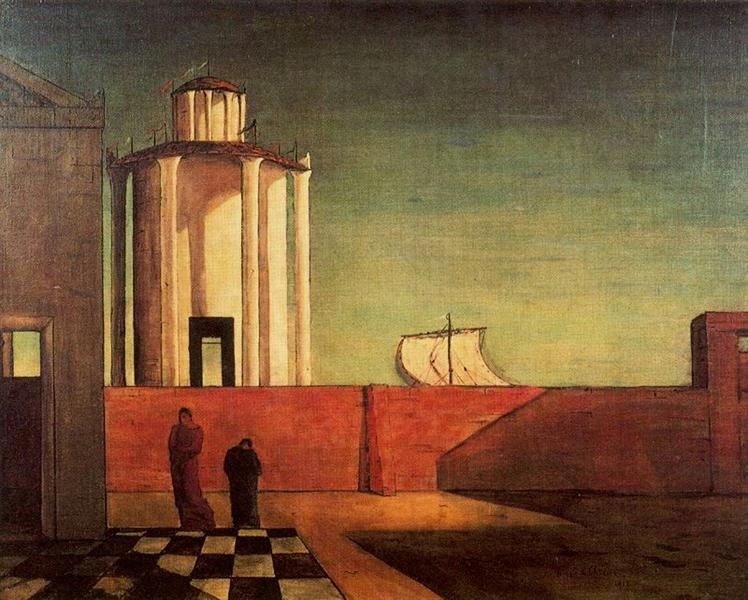 The Enigma of the Arrival and the Afternoon, 1912 - Giorgio de Chirico