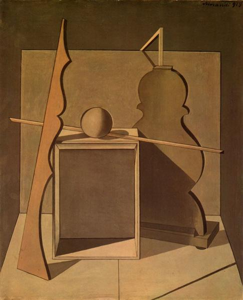 Metaphysical Still Life with Triangle, 1919 - Giorgio Morandi