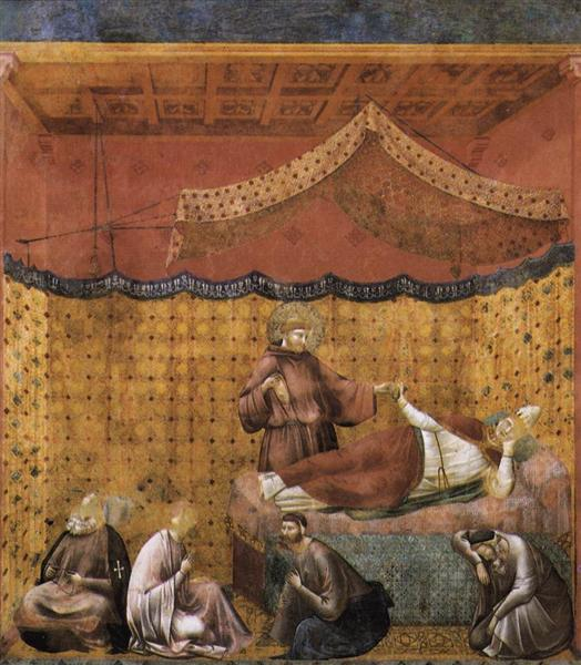 Dream of St. Gregory, 1300 - Giotto
