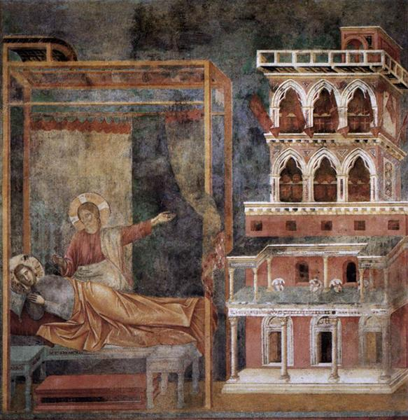 Dream of the Palace, 1297 - 1299 - Giotto