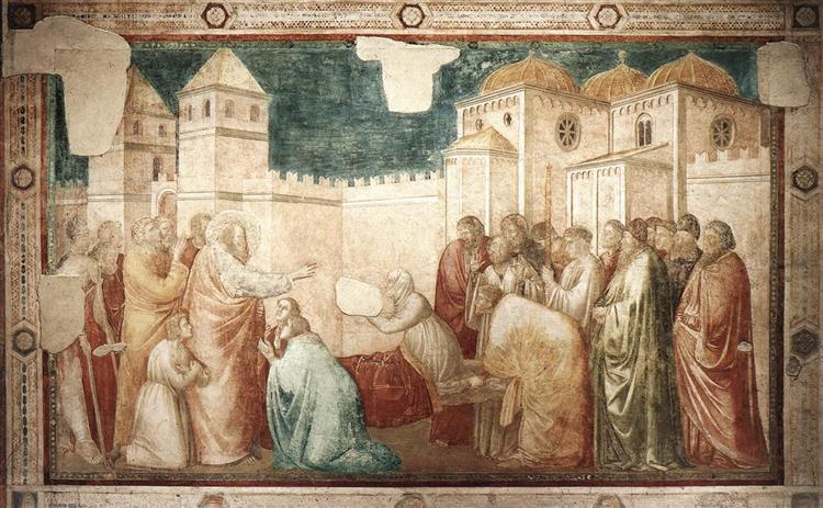 Raising of Drusiana, 1320 - Giotto