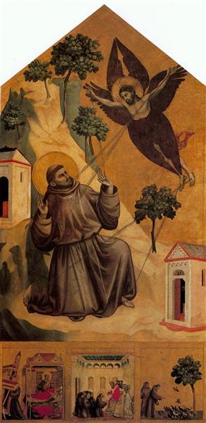St. Francis Receiving the Stigmata, c.1295 - c.1300 - Giotto