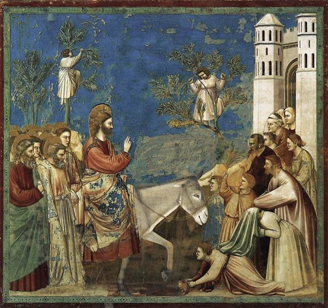 The Entry into Jerusalem, c.1305 - Giotto