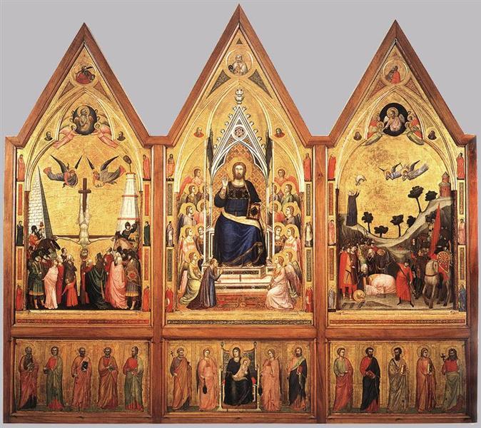 The Stefaneschi Triptych, c.1330 - Giotto